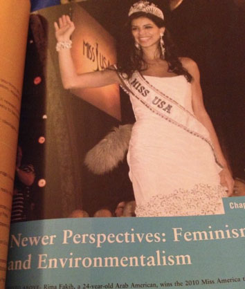 In High School History books under Newer Perspectives: Feminism and Environmentalism