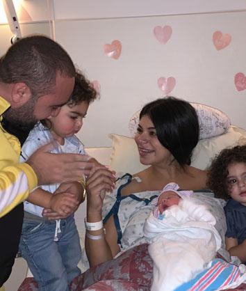 Rima Fakih Slaiby gives birth to third child, Amira