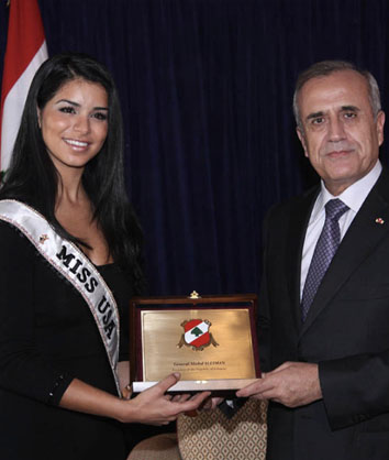 Honored with a Gold Medal by the President of Lebanon