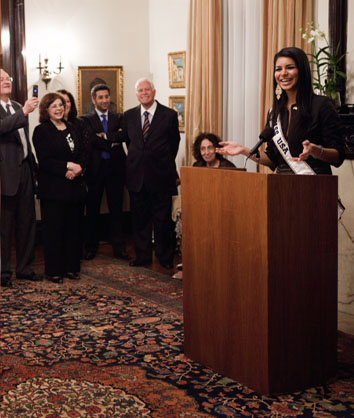 A special private event held at Washington DC Diplomat residency in Rima Fakih Slaiby's honor by his Excellency Antoine Chedid