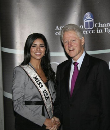 Joined President Clinton in Egypt for Down the Road to Goodwill in hope to bring Middle East Peace