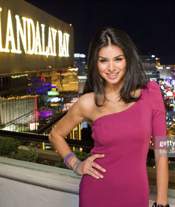 Rima Fakih Slaiby Promotes Miss Universe Pageant At Mandalay Bay