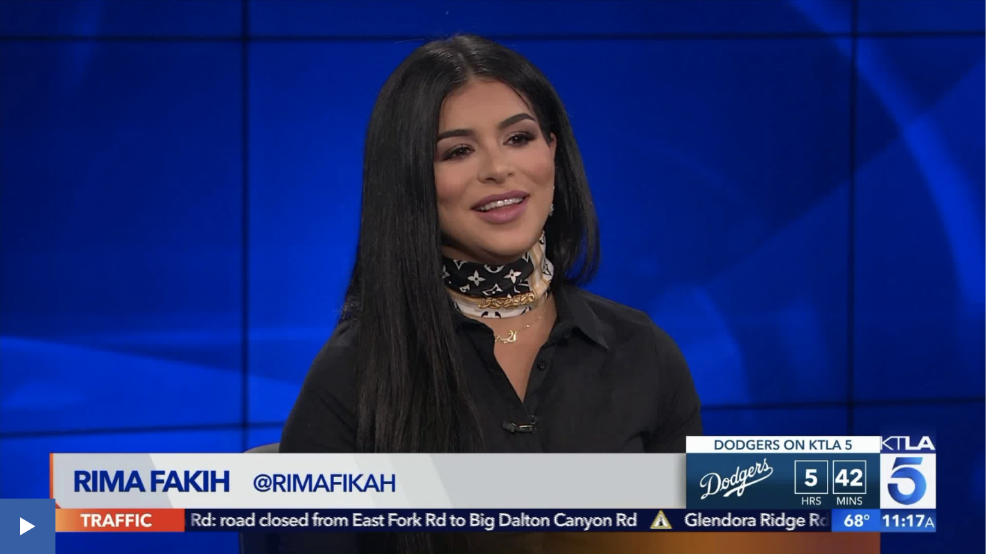 Honored as Arab of the month during Arab Heritage Month on KTLA Fox